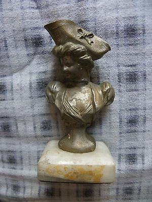 Great  Old Cast  Metal Bust Of Pirate Woman?