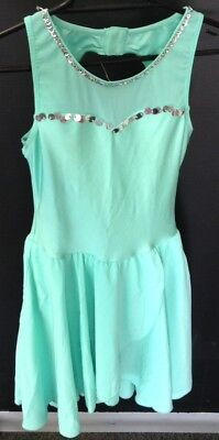 Ladies Mint Green Dance Dress Size Adult Small