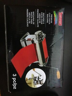 Craft Smart Premium Clay Pasta Machine 3 Pc NEW