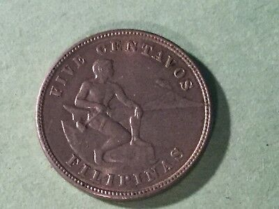 PHILIPPINES 1917S CN CENTAVOS KM 164 with luster
