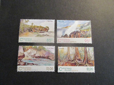 1--1993 Christmas  Island  -Scenic  Views 4 Stamps --Mint--Mnh -A1