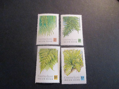 1--1989  Christmas  Island  --Ferns  4  Stamps --Mint--Mnh-A1