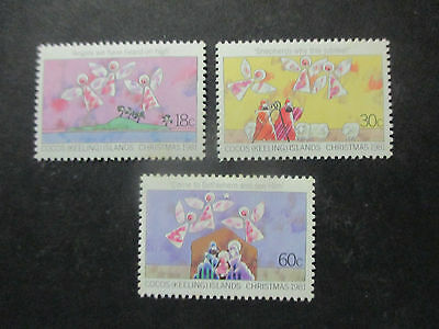 1--- 1981  -Cocos  Christmas   Issues   3  Stamps   Issed  - Mint --A1