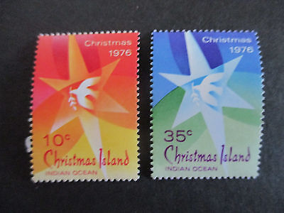 1--1976  -Chris; Island  --Christmas  Issues-- F/s  Mint  2  Stamps -Mnh  -A1
