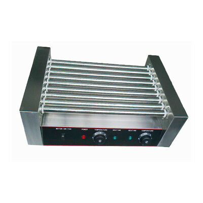 Dog 9 Roller Stainless Steel Durable Hot Grilling Commercial Machine with Cover