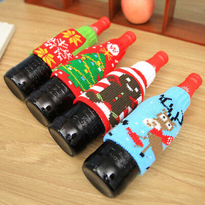 Wine Bottle Cover Bags Decoration Party Santa Claus Christmas Cap Xmas Day Favor