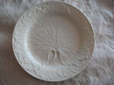 Antique French White Majolica Ironstone Pottery Plates: Lot of 2