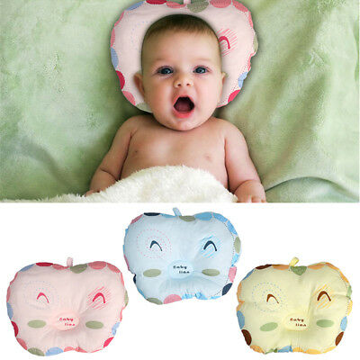 Newborn Baby Infant Pillow Support Cushion Soft Cotton Anti-Flat Head Crib Cot
