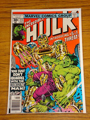 Incredible Hulk #213 Vol1 Marvel Comics July 1977