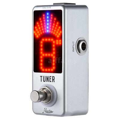 Chromatic Tuner Pedal Effect LED Display True Bypass for Guitar Bass J2E7