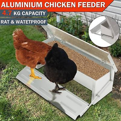 4.7KG Chicken Feeder Automatic Aluminum Chook Poultry Treadle Self Opening Coop