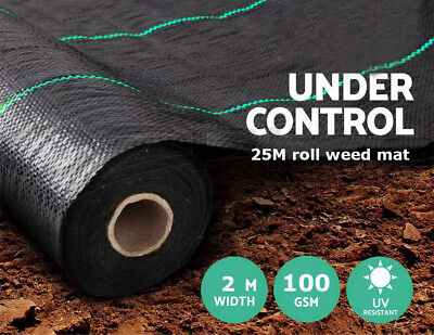4m Wide 100g Weed Control Fabric Garden Landscape Ground Cover Membrane Mulch