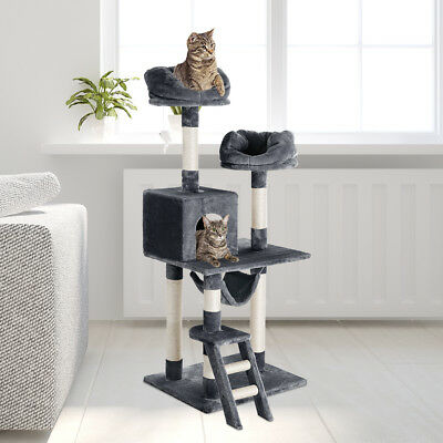 Finether 148cm 5-tier Arbre à chat griffoirs 5 étagères Playhouse chaton Griffes