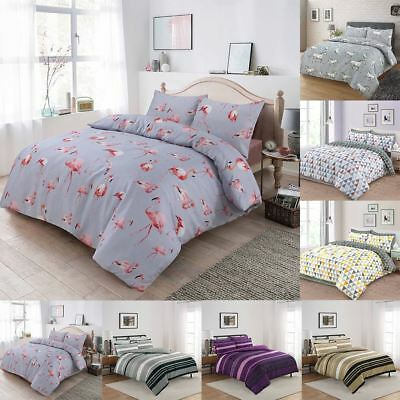 Luxury Duvet Quilt Cover With Pillowcases Bedding Set Single, Double, Super King