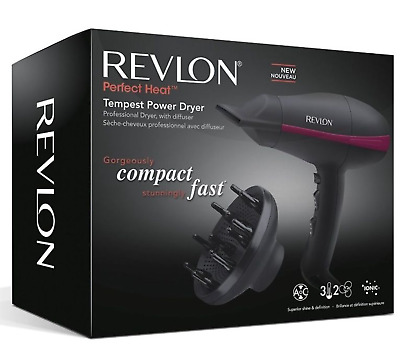 Revlon RVDR5821DUK Tempest Power 2000W AC Ionic Glossy Frizz Free Hair Dryer