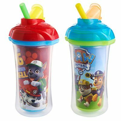 Paw Patrol Toddler Cup Kids Spill Proof Tumbler For Water Milk Juice Soft Straw