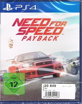 Playstation 4 PS4 Spiel NFS Need for Speed : Payback NEU