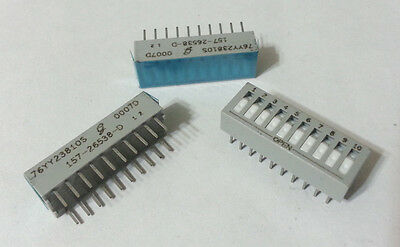 DIP Switches 10-Position SPST Rocker OFF ON Grayhill 76YY23810S PCB Mount 9pcs