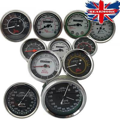 Royal Enfield BSA Norton Smith Replica Speedometer KPH & MPH 0-160 / 0-220 Bar
