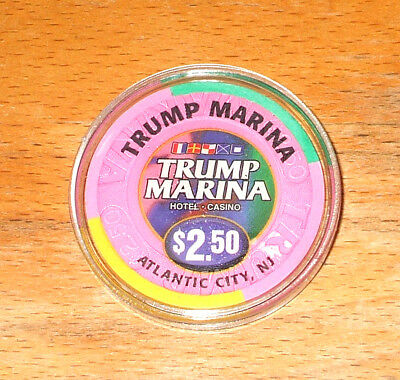 $2.50 Trump Marina Hotel CASINO CHIP - 1997 - ATLANTIC CITY, New Jersey