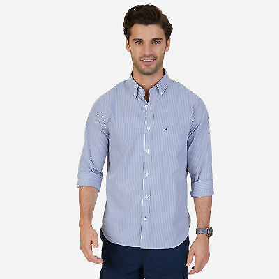 Nautica Mens Classic Fit Wrinkle Resistant Striped Shirt
