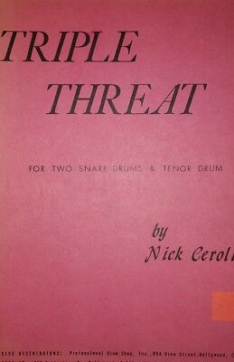 Triple Threat by Nick Ceroli f. 2 Snares u. Tenor Drum