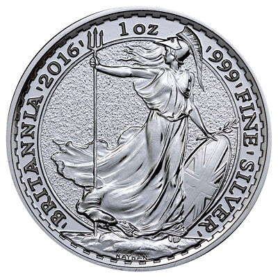 2016 Great Britain 2 Pound 1 Troy Oz .999 Silver Britannia Coin SKU38049