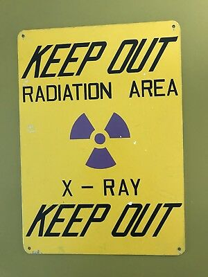Vintage Rare '60's Radiation X-Ray Sign Monster Advertising Medical Metal