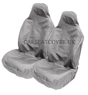 BMW 1-Series Convertible - H. Duty Grey Waterproof Car Seat Covers - 2 x Fronts