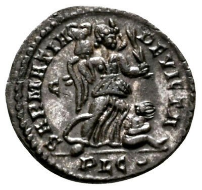 CONSTANTINE THE GREAT (323 AD) Ae3 Follis. Lyons #RA 9599