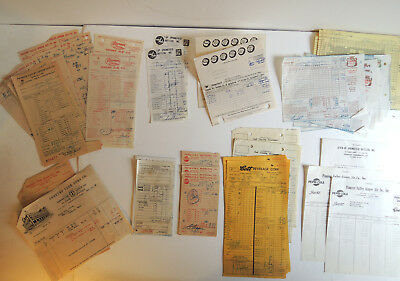 Vintage Adv. 76 Pc Lot Soda Bottler & Distributor Receipts & Bills Coke Pepsi