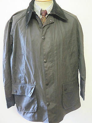 """Barbour A322 Bedale Waxed jacket - L 44"""" Euro 54 in Black"""