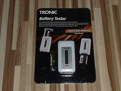 Tronic Battery Tester With LCD Display Made In Germany