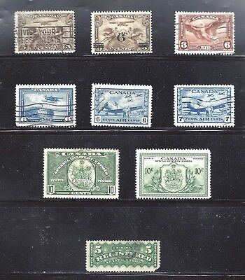 Canada Selection Of Airmail/special Delivery/registration Used (Bs10484-2)