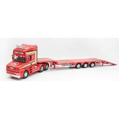 Oxford 1:76 76TCAB008 Scania T Cab 3 Axle Nooteboom Semi Low Loader Sandy Kydd