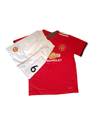 Pogba football shirt Manchester United 2017-2018 home for kids