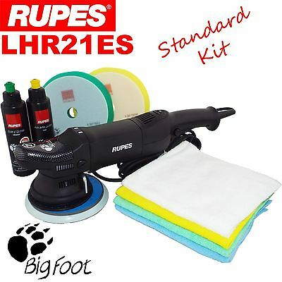 Rupes LHR21ES Orbital Polisher Kit Car  Polishing Machine Pads, Cloth, Compounds
