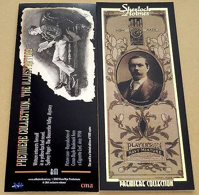 Sherlock Holmes Rare Gold Foil Stamped Bookmark Collector Chase Card BM (2002)