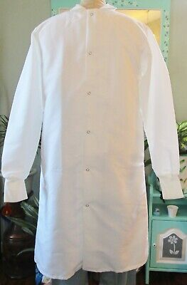 "Best Medical Unisex L/S Lab Coat Snaps Side Vents knit cuff 42"" Length Size XS"