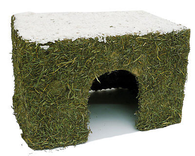 Christmas Wintery Hay Cottage Medium Festive Small Animal Treat House