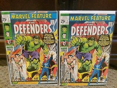 Marvel Feature #1 (2 Copies) 1st Appearance of the Defenders