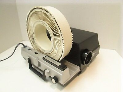 Technicolor (GAF) 300 Slide Projector with Remote and (2)Trays - Just Serviced!