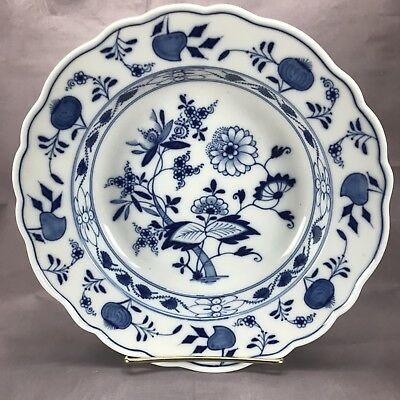 EARLY! 18th Century Hand Painted Meissen German Blue Onion Deep Soup Plate