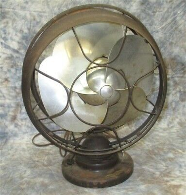1930s Emerson Silver Swan Type5250C Electric Fan 10 Inch Aluminum Blades Working