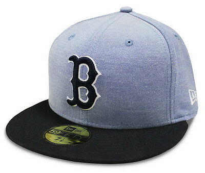 Boston Red Sox Cap New Era Multi Ox 59FIFTY Blue Fitted 59Fifty Baseball Cap New