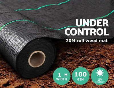 Funime 1m x 20m Garden Weed Control Landscape Fabric Membrane Mulch Ground Cover