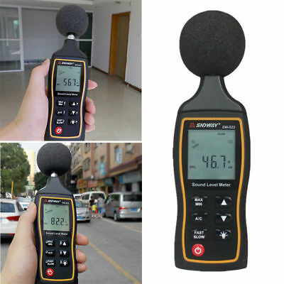 LCD Digital Sound Noise Level Meter 30-130dB 1.5 dB Accuracy Noise Tester
