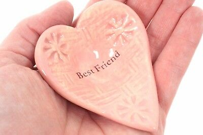 """""""Best Friend"""" Ceramic Giving Heart Bowl, Thoughtful Keepsake Gift, Collectible"""