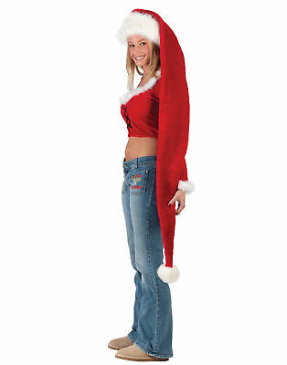 Long Holiday Santa Claus  Fun Christmas Red Hat Costume Accessory