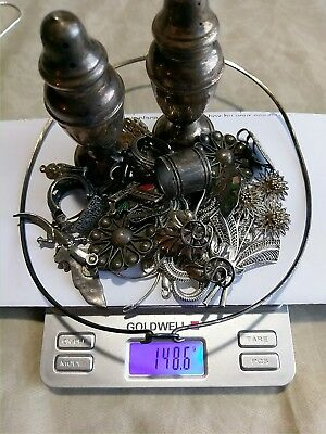 Vintage Antique Sterling Silver Jewelry Scrap or useable lot